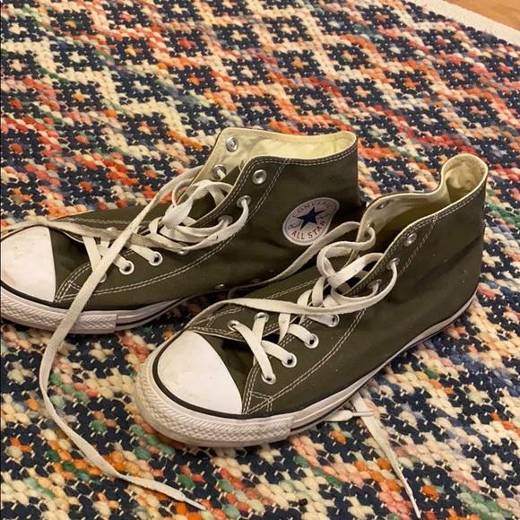 Converse Shoes | Hunter Green High Tops